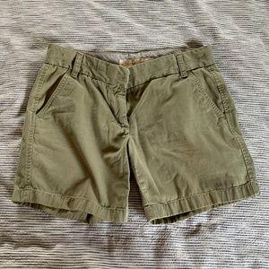 "J. Crew Classic Twill Chino Shorts 6"" Inseam"